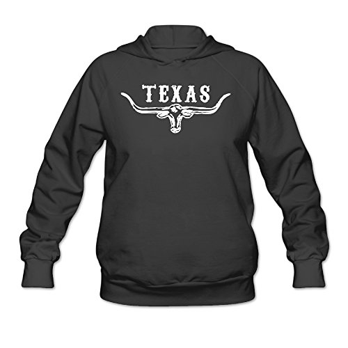 (Bluma Women's Texas Longhorn Lone Star State Sports Pullover Black)