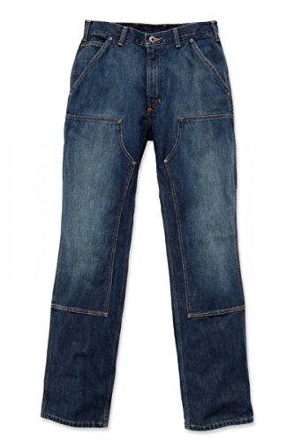 Carhartt Jeans Front Dark Hose Double Worn Logger in zwzUnOC1