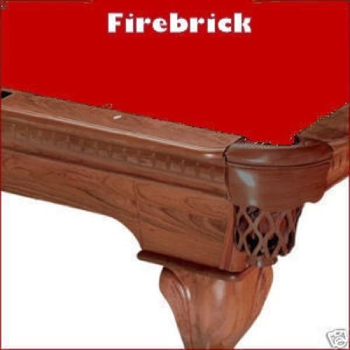 Firebrick Replacement (9' Firebrick ProLine Classic 303 Teflon Billiard Pool Table Cloth Felt)