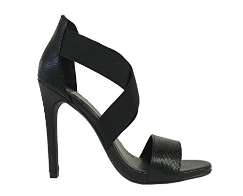 ELIA! Womens Sexy Criss Cross Elastic High Heel Dress Pumps Sandals pu8s1s