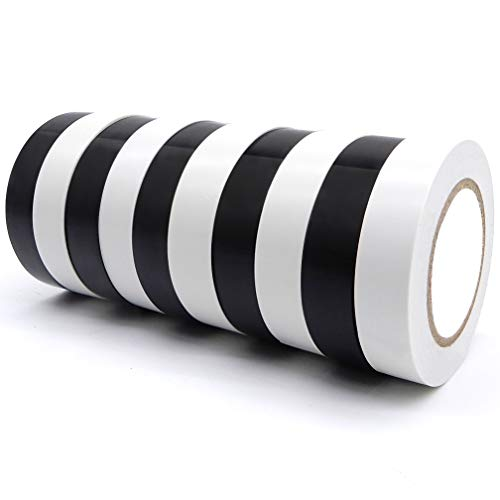 Maveek 15mm x 18m Electrical Insulation Tapes-High End Industrial Grade UL Listed-Rated to 176 Degrees & 600 Volts-Flame Retardant Waterproof PVC Tape Vinyl Insulating Backing-0.6