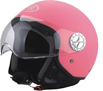 BHR 50196 Demi-Jet Casco, Color Rosa Mate, Talla XL, 61 cm