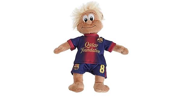 FC Barcelona - Muñeco / Peluche del Club con la Camiseta de Andrés Iniesta Fútbol (Talla Única/Cabello Rubio): Amazon.es: Ropa y accesorios
