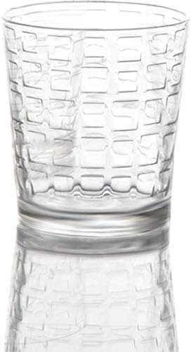 Circleware 40201 Blocks Set of Heavy Base Drinking Whiskey Glass Glassware Cups for Vodka, Brandy, Scotch, Bourbon & Best Selling Liquor Beverage Dining Decor Gifts, 12.5 oz (12.5 oz DOF - 8 Piece) ()