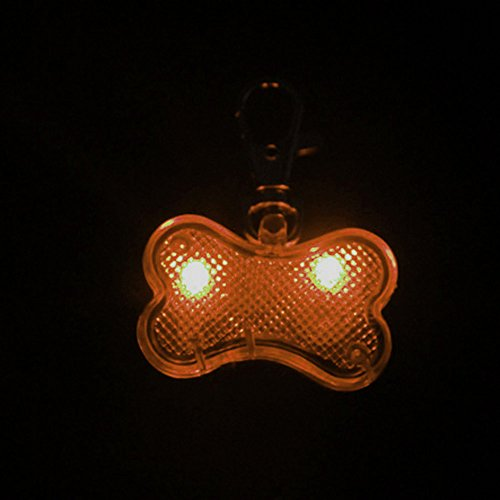 Higo Pack 2pcs LED Dog Tags Glow in the dark Pet Supplies Bon.. Free Shipping
