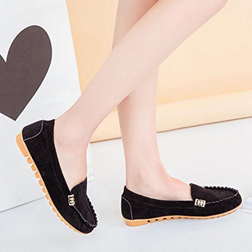 Ladies Flats Soft Billila Comfy Shoes Ballet Boat On Shoes Black Women's Slip Casual pfxqS