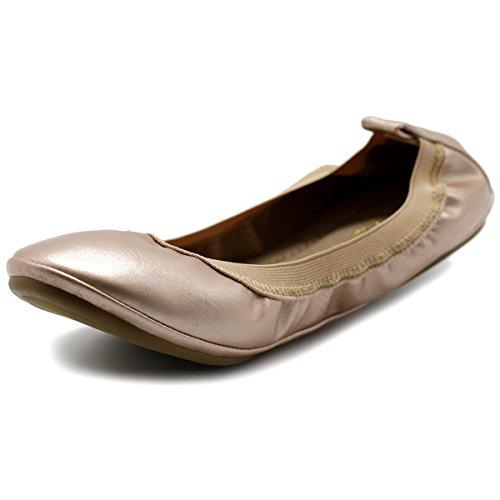 Collar Gold Women's Ollio Flat Shoe Ballet Pull Rose Tab Comfort qEwzCwT