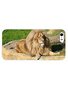 3d Full Wrap Case for iPhone 5/5s Animal Chilling Lion42 by mcsharks