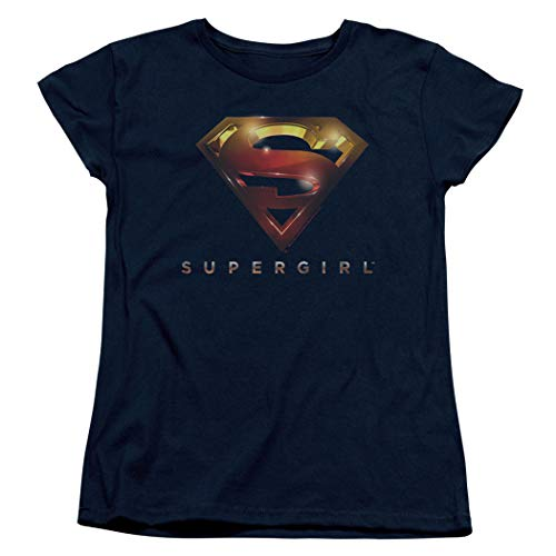 Supergirl TV Series Logo Glare Women's T Shirt (Medium) ()