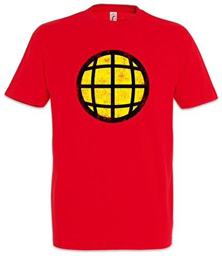 Urban Backwoods Captain Planet Men T-Shirt Red