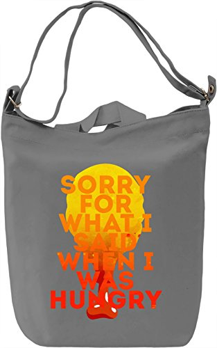 Hungry Borsa Giornaliera Canvas Canvas Day Bag| 100% Premium Cotton Canvas| DTG Printing|