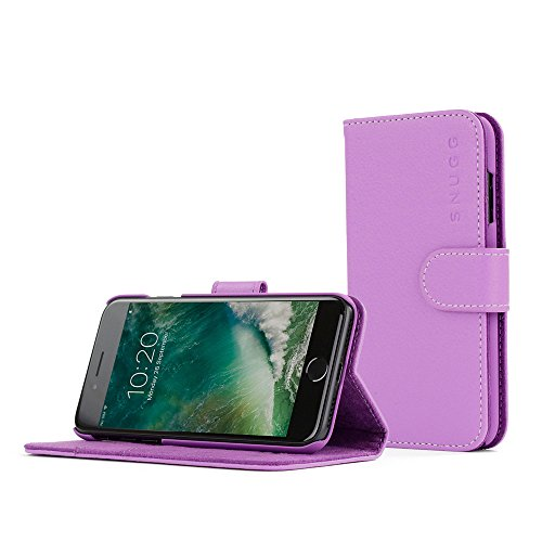 snugg-legacy-leather-flip-wallet-case-with-card-slots-for-iphone-7-purple