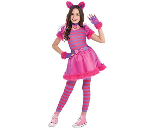 Amscan Cheshire Cat Halloween Costume for Girls, Large, with Included Accessories