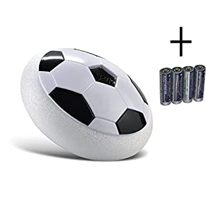 THESIMPLE - Kids Air Power Soccer Football Music Disc, Boys Girls Sport Children Training Football with Soft Foam Bumpers and LED Lights, Suspended Ball for Indoor and Outdoor Christmas Present
