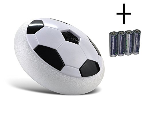 THESIMPLE - Kids Air Power Soccer Football Music Disc, Boys Girls Sport Children Training Football with Soft Foam Bumpers and LED Lights, Suspended Ball for Indoor and Outdoor Christmas - Branded Online Clearance