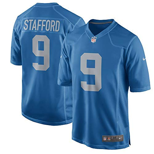Nike Matthew Stafford Detroit Lions Alternate Throwback Game Jersey - Blue (Large)