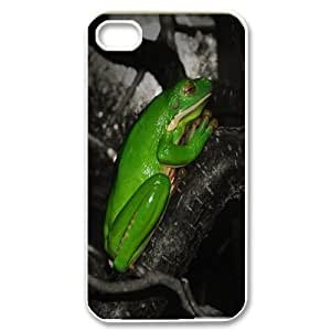 IPhone 4/4s Case, Frog Praying Antishock Case for IPhone 4/4s {White}