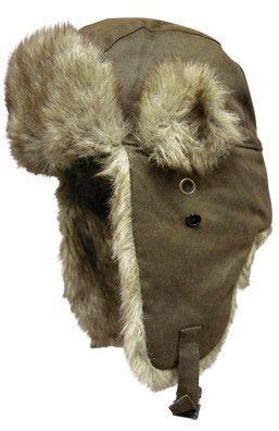 Hand Nit Kit (Dakota Dan Winter Trooper, Trapper, or Hunting Hat Faux Fur - Oilskin Brown Fur)