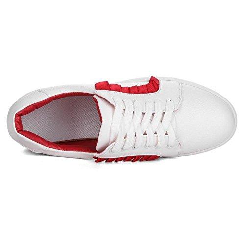 Taoffen Dentelle Chaussures Rouges Up Femmes Femmes Dentelle Baskets RXtxWqHd