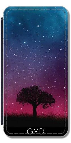 Leder Flip Case Tasche Hülle für Apple Iphone 7 Plus / 8 Plus - Baum Raum Galaxie Kosmos Himmel by Petra
