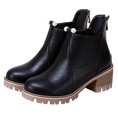 AIYOUMEI Classic AIYOUMEI Boot Black WoMen WoMen 5q0wUYU