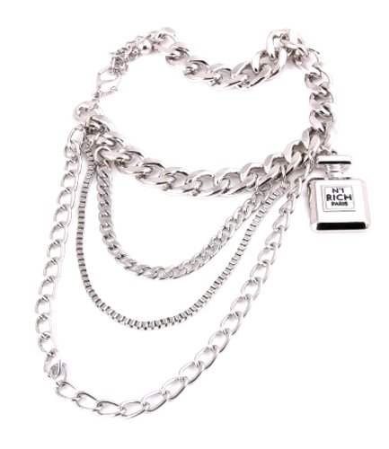 Fashion Trendy Shoe Chain - Anklet For Women - Unisex / AZFJBT (AZFJBT025-SIL) by Arras Creations (Image #1)