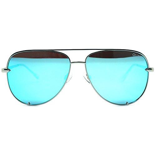 Quay High Key Mirror Silver/Blue Mirror Lens - Australia Cheap Sunglasses
