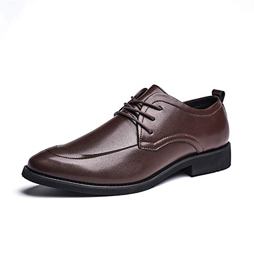 Xujw-shoes, 2018 Scarpe Stringate Basse Uomo d'affari Oxford Scarpe classiche di cuoio inglesi classiche casual (Color : Marrone, Dimensione : 41 EU) Marrone