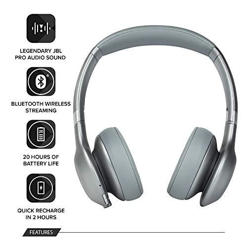 JBL Everest 310 Wireless On-Ear Headphones (Silver)
