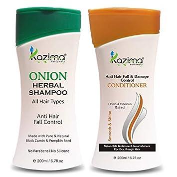 Amazon.com: Champú herbal KAZIMA ONION de 200 ml + ...