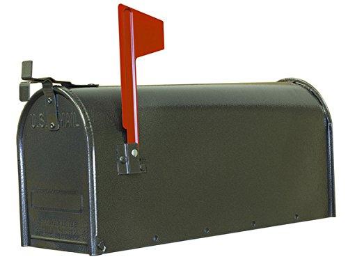 Fulton Corporation 20410728 Standard Size Galvanized Steel Rural Mailbox Gray