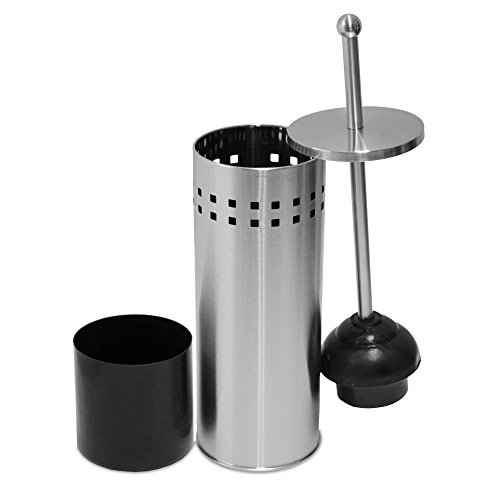 Oasis Collection Toilet Plunger & Holder, Stainless Steel Matte Finish TP029557