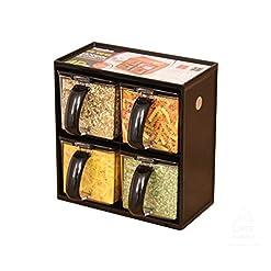 Kitchen UPIT Modern Spice Rack Seasoning Storage Container Jar 4pcs SET Random Color spice racks