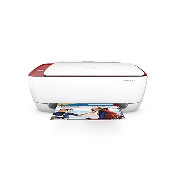 HP DeskJet 3637 - Impresora multifunción (Inyección de Tinta térmica A4, WiFi, Color, Negro, Cian, Magenta, Amarillo) Color Blanco 3