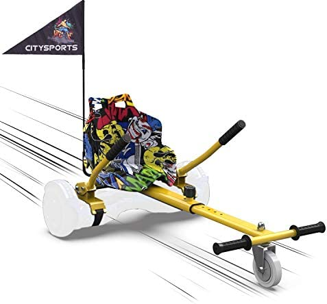 "MARKBOARD HoverKart pour Self-Balance Scooter/Kart Siège pour Gyropode, Scooter Électrique, Ajustable Compatible avec Scooter 6.5"", 8.5"", 10"" Scooters (Hip)"