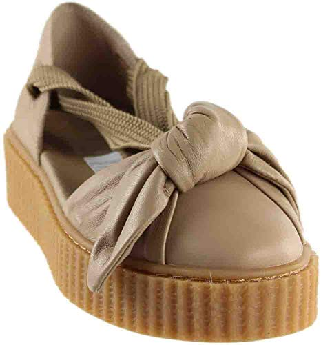 Puma Sandals Lightweight - PUMA Women's Creeper Bandana Sandal Natural/Natural/Oatmeal 7 B US