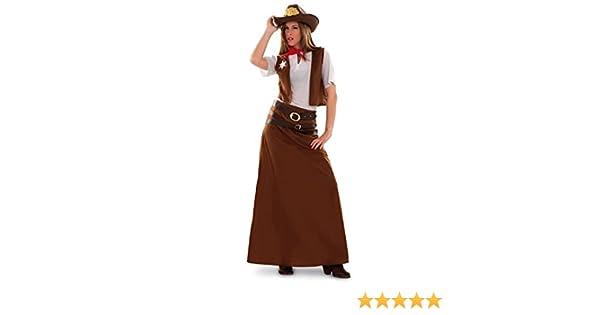 Disfraz de Vaquera para mujer talla M-L: Amazon.es: Juguetes y juegos