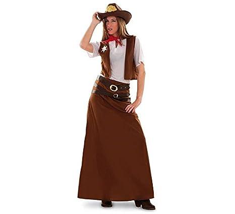 48aa44189 Disfraz de Vaquera para mujer talla M-L  Amazon.es  Juguetes y juegos