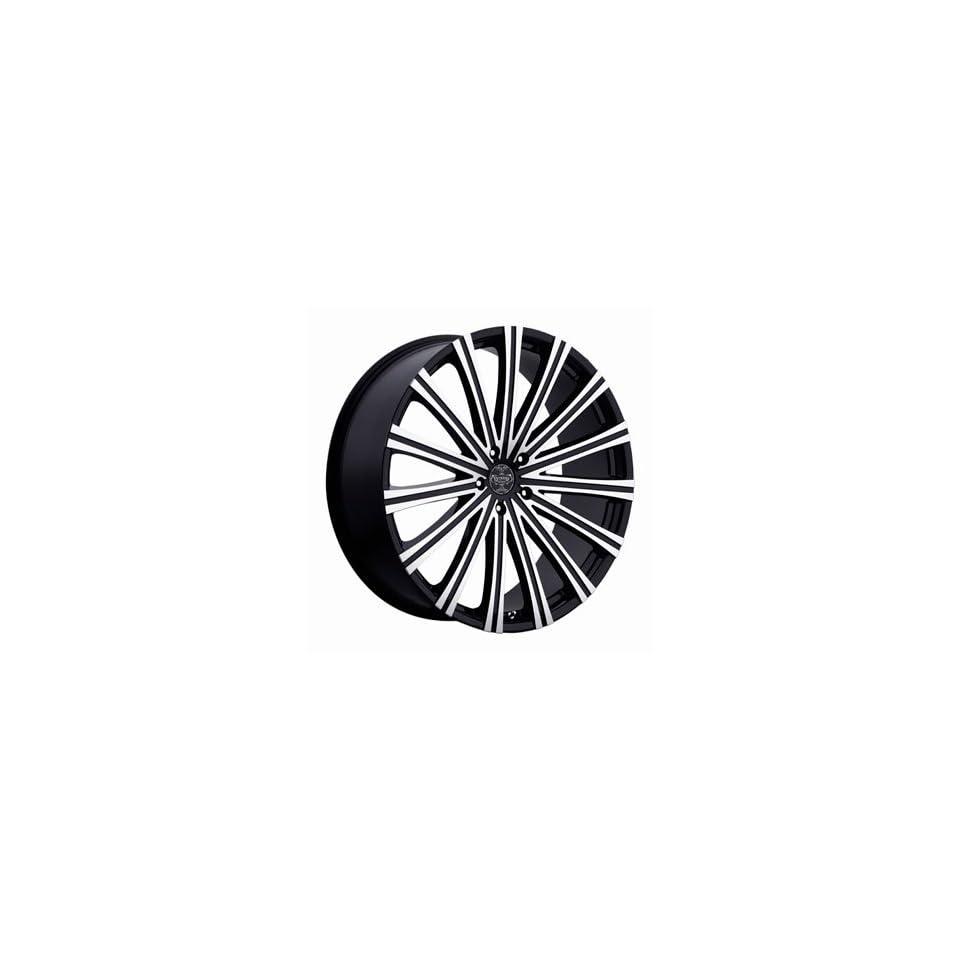20 Wheels Rims Versante Ve230 Black Machined Face 5x114.3 5x120 5x135 5x139.7