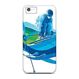 New Premium Flip Cases Covers Freestyle Skiing Ski Cross Skin Cases For Iphone 5c