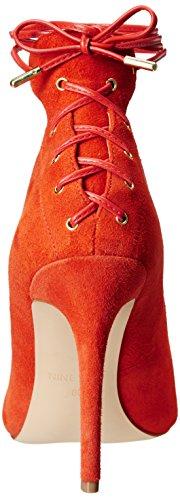Bomba de Nine West Ebba vestido de gamuza Red orange
