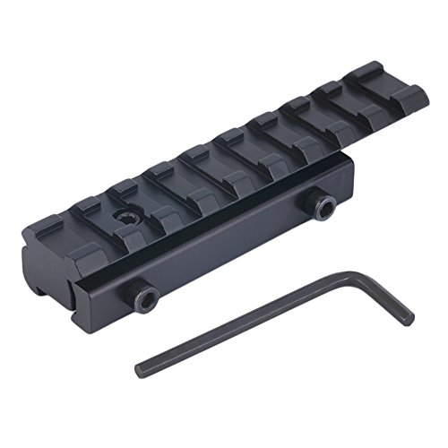 Rail Mount Adapter / Mount Adjustor / Dovetail to Picatinny, 22 Crossbow Airgun Scope Rail Adapter Riser 3/8inch 11mm Dovetail to Weaver w/ Stop Pin