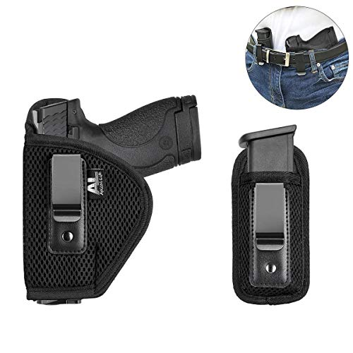 Apical Life Concealed Carry Holster Carry Inside or Outside The Waistband | Fits Subcompact to Large Handguns | Right and Left Hand Draw for Glock 17 to 39; Springfield XD/XDS/XDM (Right Hand)