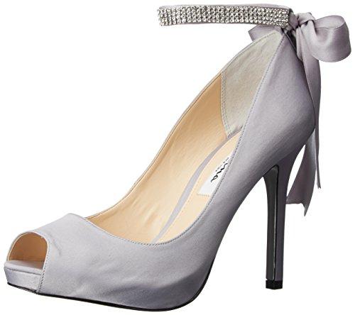 Heels Metallic Nina (Nina Women's Karen-LS Dress Pump, LS-Royal Silver, 7.5 M US)