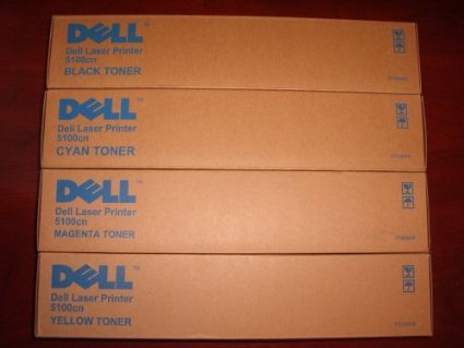 Genuine Dell 5100cn Toner Set (BK/C/M/Y) ()