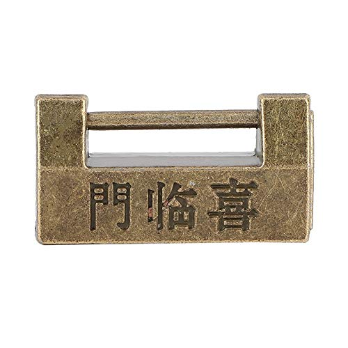 Copper Necklace Transparent - TMISHION Vintage Padlock, Vintage Chinese Style Mini Copper Padlock Horizontal Lock for Jewelry Box Protect Necklaces, Bracelets and Rings to Earrings and Watches