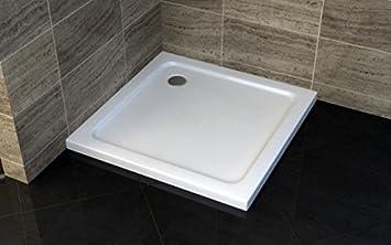 Piatto Doccia 80x80x5 Quadrato In Acrilico Rinforzato (80x80 Con Piletta Di Scarico) WebMart