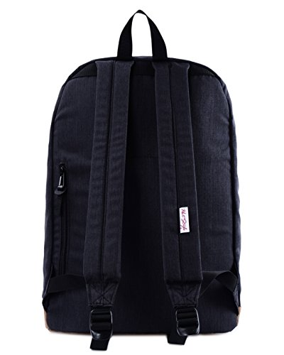 936Plus College School Backpack Travel Rucksack | Fits 15.6'' Laptop | 18''x12''x6'' | Black by hotstyle (Image #2)'