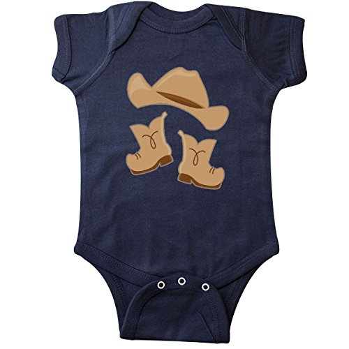 inktastic Western Style Boy Boots Infant Creeper 18 Months Navy Blue
