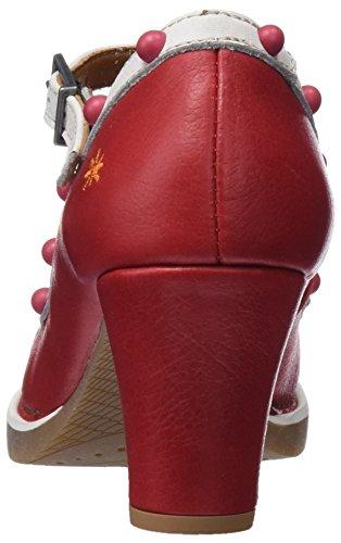 1076 tropez Røde St carmin Memphis Hæle For Med e Lukkede Mærke Teknik Kvinder 6IvrIx